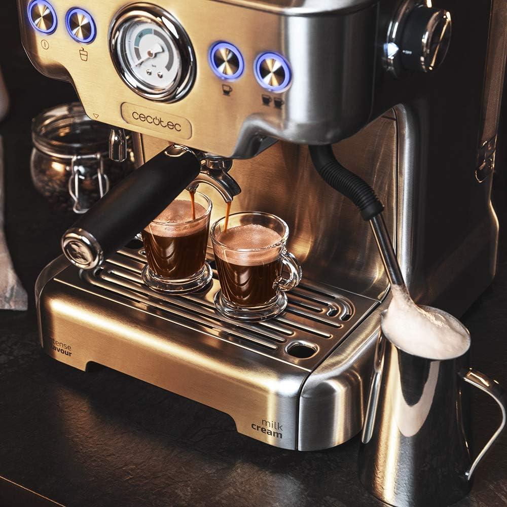 Cecotec Cafetera Express Power Espresso 20 Barista Pro. Thermoblock para Café y Espumar Leche, 20 Bares, Manómetro PressurePro,ModoAuto para 1 y 2 cafés,Vaporizador Orientable,2900W: Amazon.es: Hogar