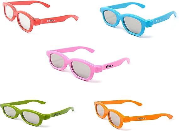 Paquete Mixto de 5 Gafas 3D Pasivo para Niños para Uso con todas ...