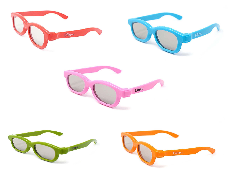 ddbd84274e Ultra Paquete Mixto de 5 Pares de Anteojos 3D Pasivos Para Niños Gafas  Graduadas Universales Para