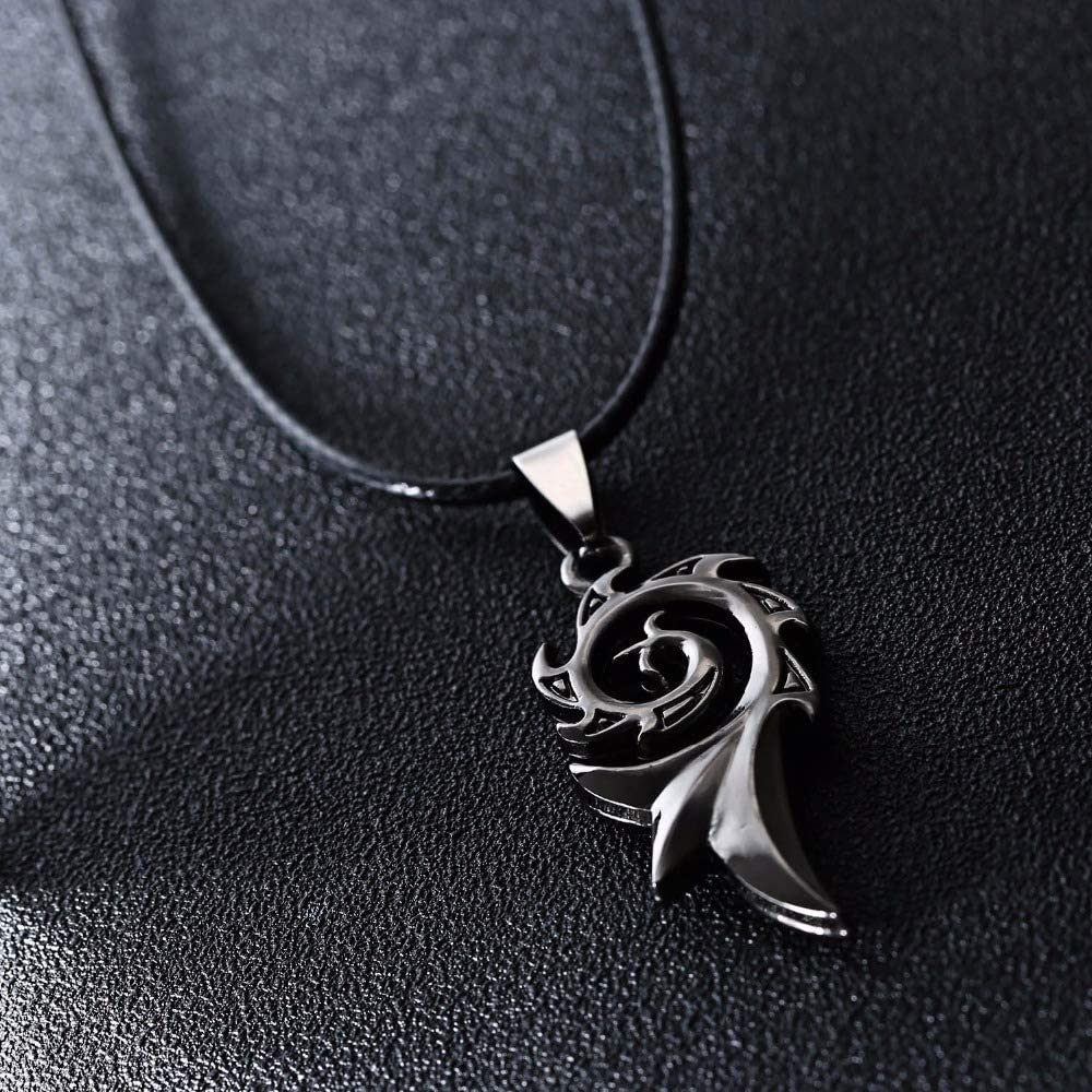HAMANY Mens Punk Dragon Flame Titanium Stainless Steel Cool Leather Chain Pendant Necklace Mens Necklace