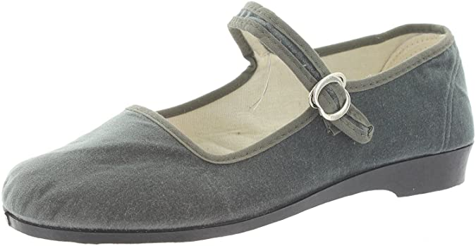 MIK Funshopping Women's Ballet Flats Gray GREY: Amazon.co.uk: Shoes & Bags