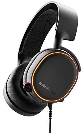 SteelSeries Arctis 5 - Gaming Headset - RGB-Beleuchtung - DTS Headphone:X v2.0 Surround für PC und PlayStation 4 - Schwarz [2