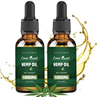 (2-Pack) Hemp Oil - 10000mg Hemp Oil Extract, Pure Extract, Vegan Friendly, Helps...