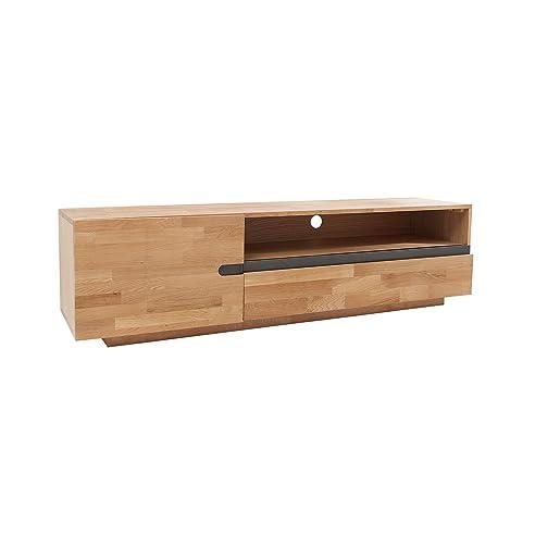 Massives TV Board WOTAN 170cm Eiche Massivholz Fernsehschrank Lowboard  Keilverzinkte Oberfläche Natur Geölt Great Ideas