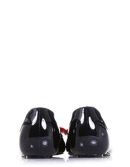 GUESS Schwarze Ballerina komplett aus PVC, Synonym für