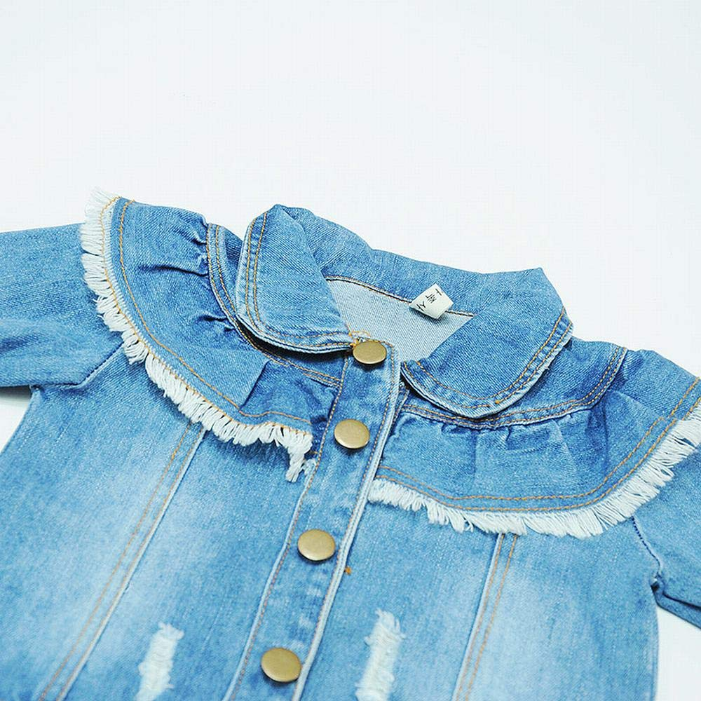 bb6b4e7d4 Ancia Baby Girls Toddlers Jean Jacket Fall Coat for Kids  1540966735 ...