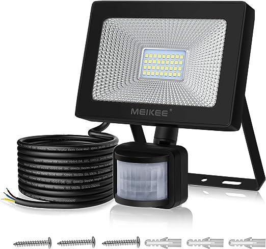 Foco LED con Sensor Movimiento de 3000LM, MEIKEE 30w Proyector LED ...