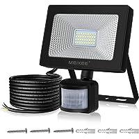 Foco LED con Sensor Movimiento de 3000LM, MEIKEE 30w Proyector LED exterior 6500K con detector PIR de IP66, Iluminación de Exterior y Seguridad para patio, jardín