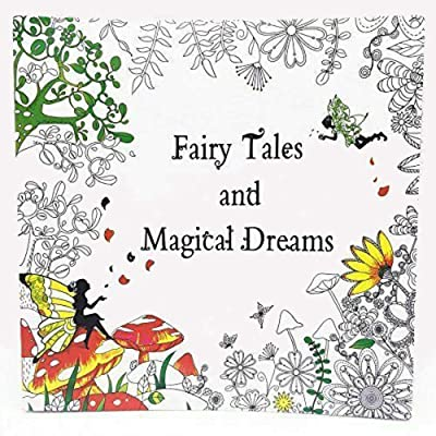 GOTICAL Adult Coloring Book 50 Pages Fairy Tales and Magical Dreams Stress Relieving Activity Books for Adults Premium Pen Marker Coloring Book for Teens Girls: Toys & Games