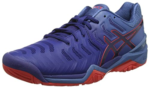 e8d9c4473682 Asics Mens Gel-Resolution 7 Sneakers  Amazon.co.uk  Shoes   Bags