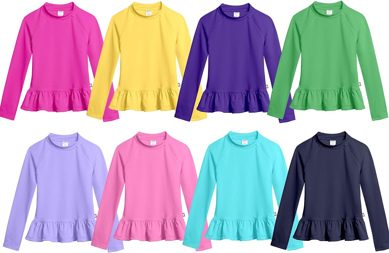 Hot Pink City Threads Baby Girls Puff Short Sleeve Rashguard Swimming Shirt Swim Top Rash Guard UPF Sun Protection for Summer Beach Pool and Play 12//18m