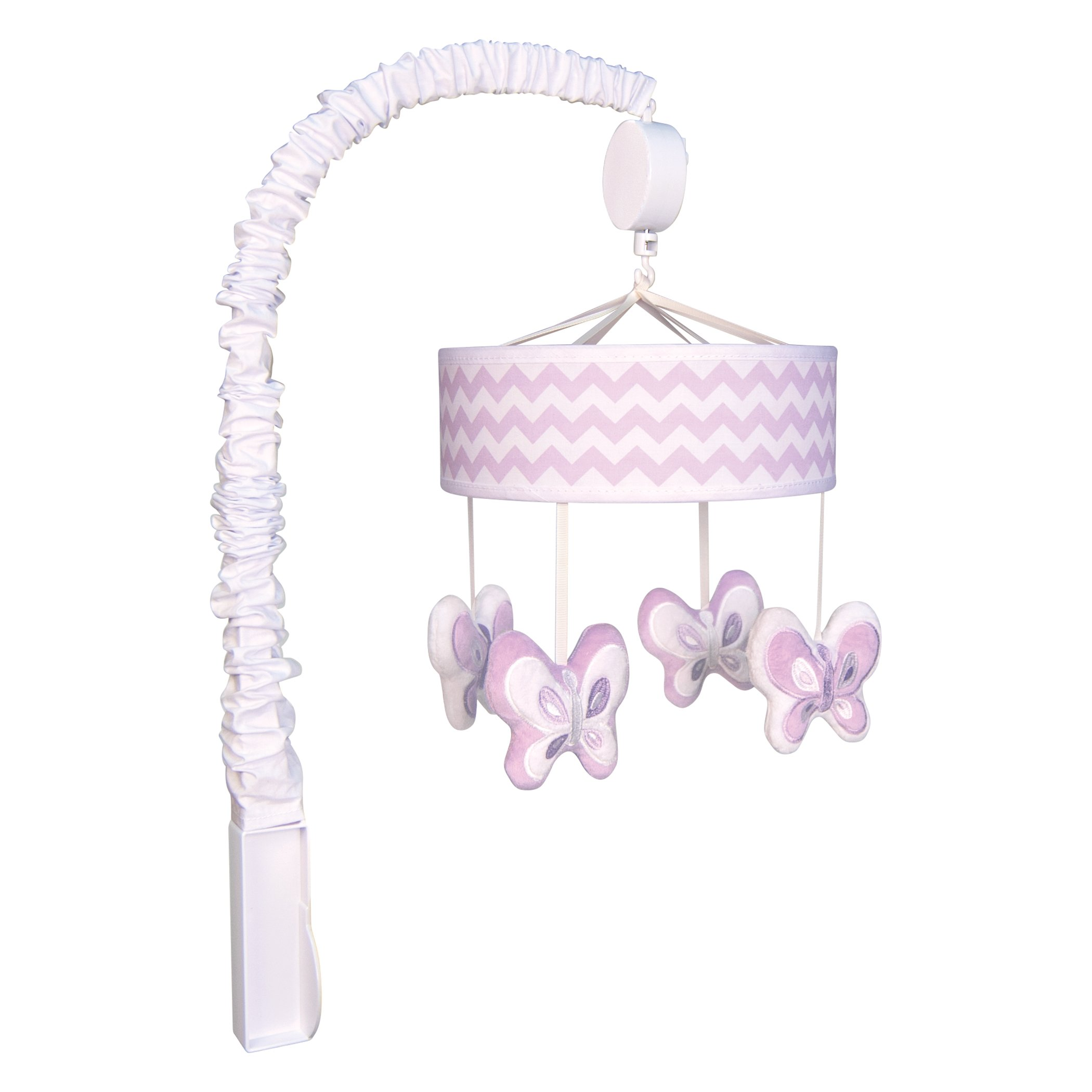 Trend Lab Orchid Bloom, Floral Musical Crib Mobile, Baby Mobile, Nursery by Trend Lab