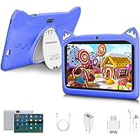 Tablet para Niños con WiFi 7 Pulgadas Android 10 Pie, 3GB RAM+32GB ROM/128GB y Juegos Educativos (púrpura)