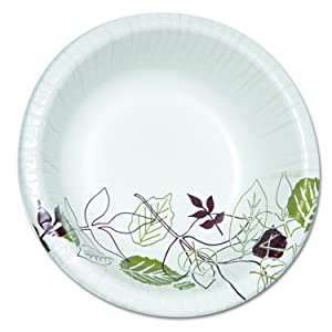 Dixie Ultra SX20PATH Pathways Heavyweight Paper Bowls, 20 oz, Green/Burgundy (Pack of 500)