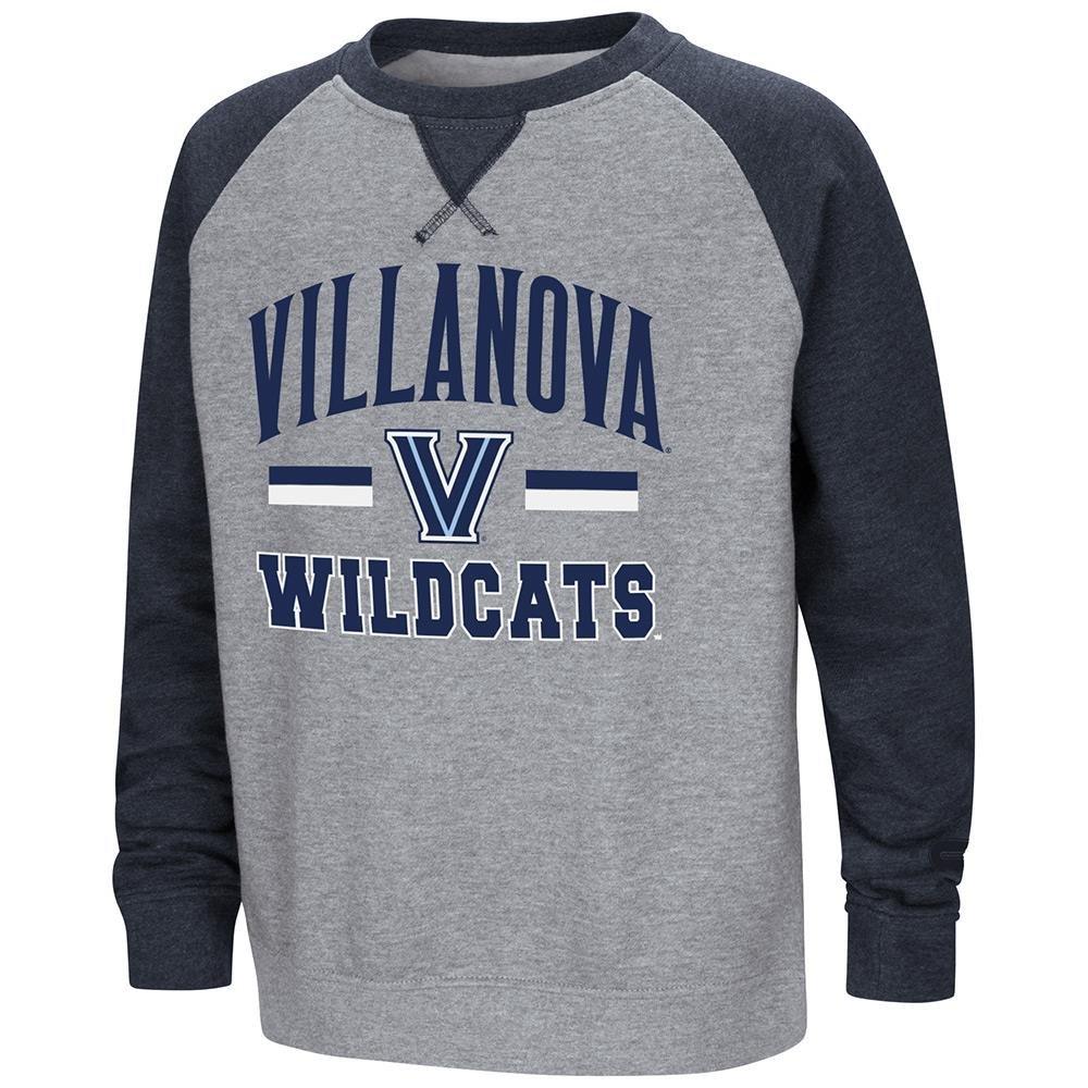 Colosseum Youth Villanova Wildcatsフリースクルーネックスウェットシャツ B07DWJZMDY  Large (16/18)