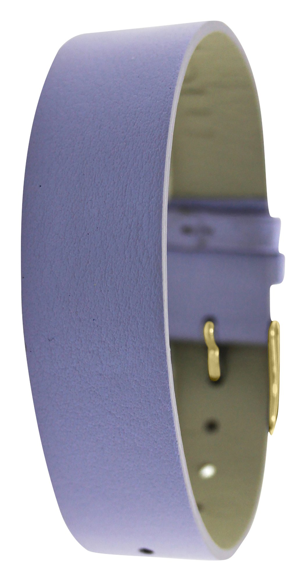 Moog Paris Purple Calf Leather Bracelet for Women, Pearly Pattern, Pin Clasp, 18mm Band - SC-05G
