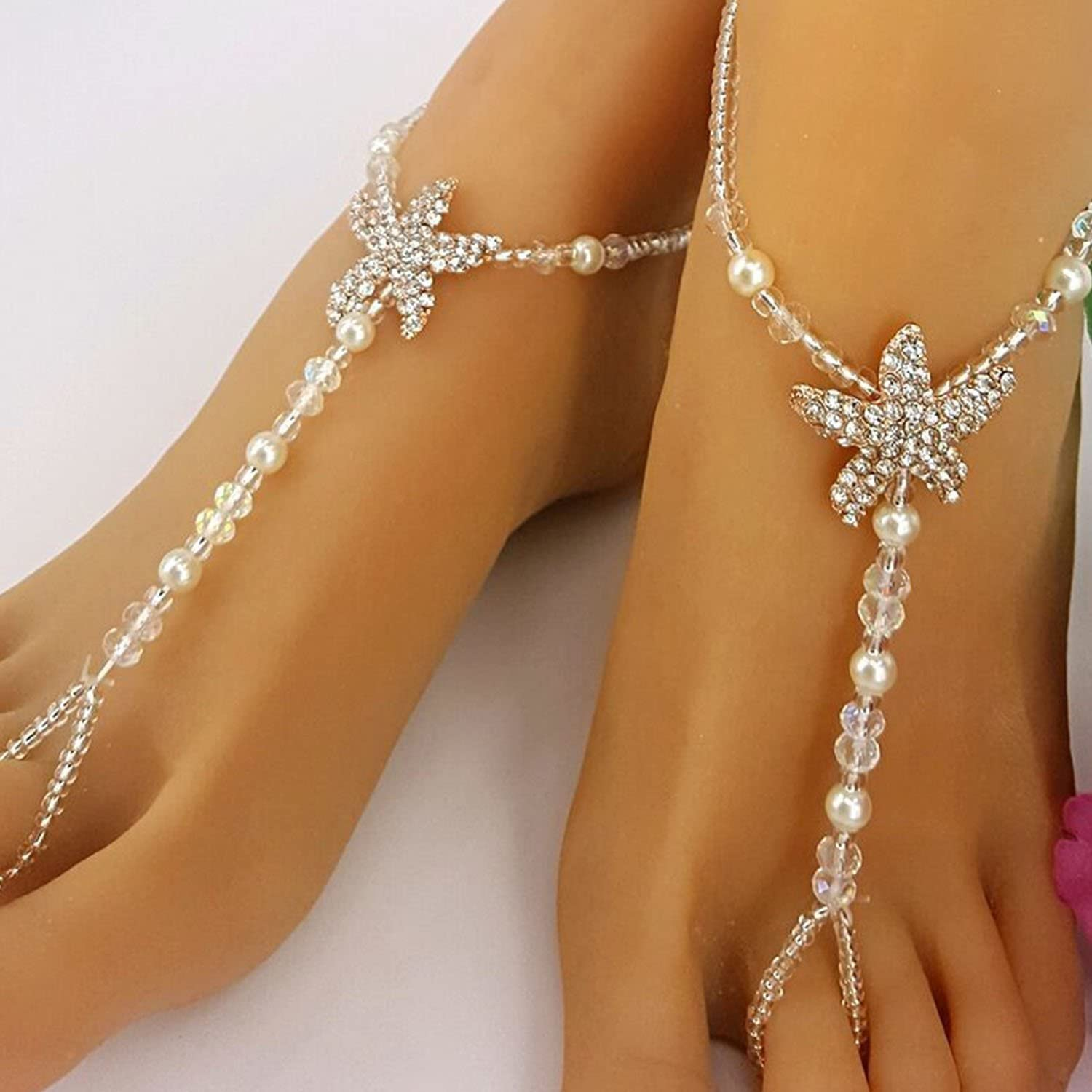 Girl Anklet Butterfly Chain Ankle Bracelet Barefoot Sandal Beach Foot Jewelry LC