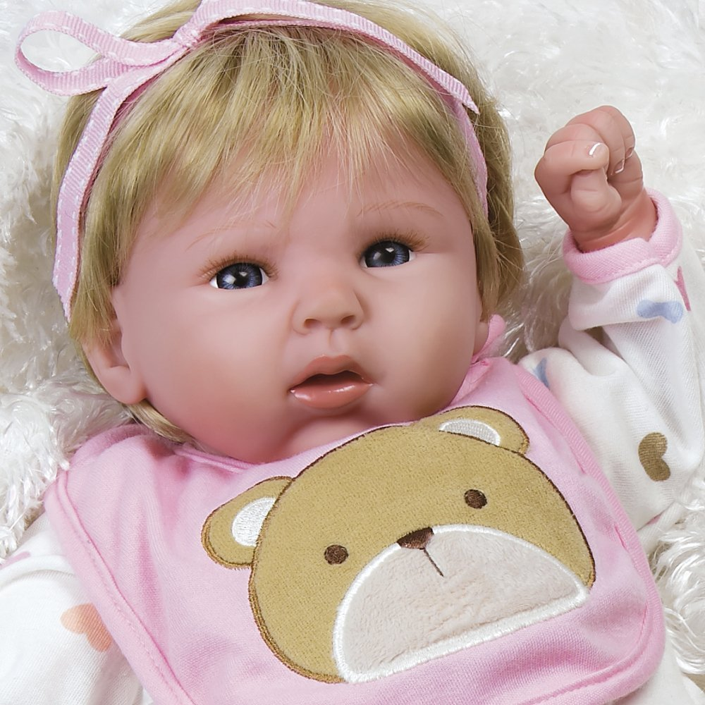 Paradise Galleries 19 inch Baby Doll That Looks So Truly Realistic & Lifelike Baby Doll, Happy Teddy, Baby Soft Vinyl Great for Reborn