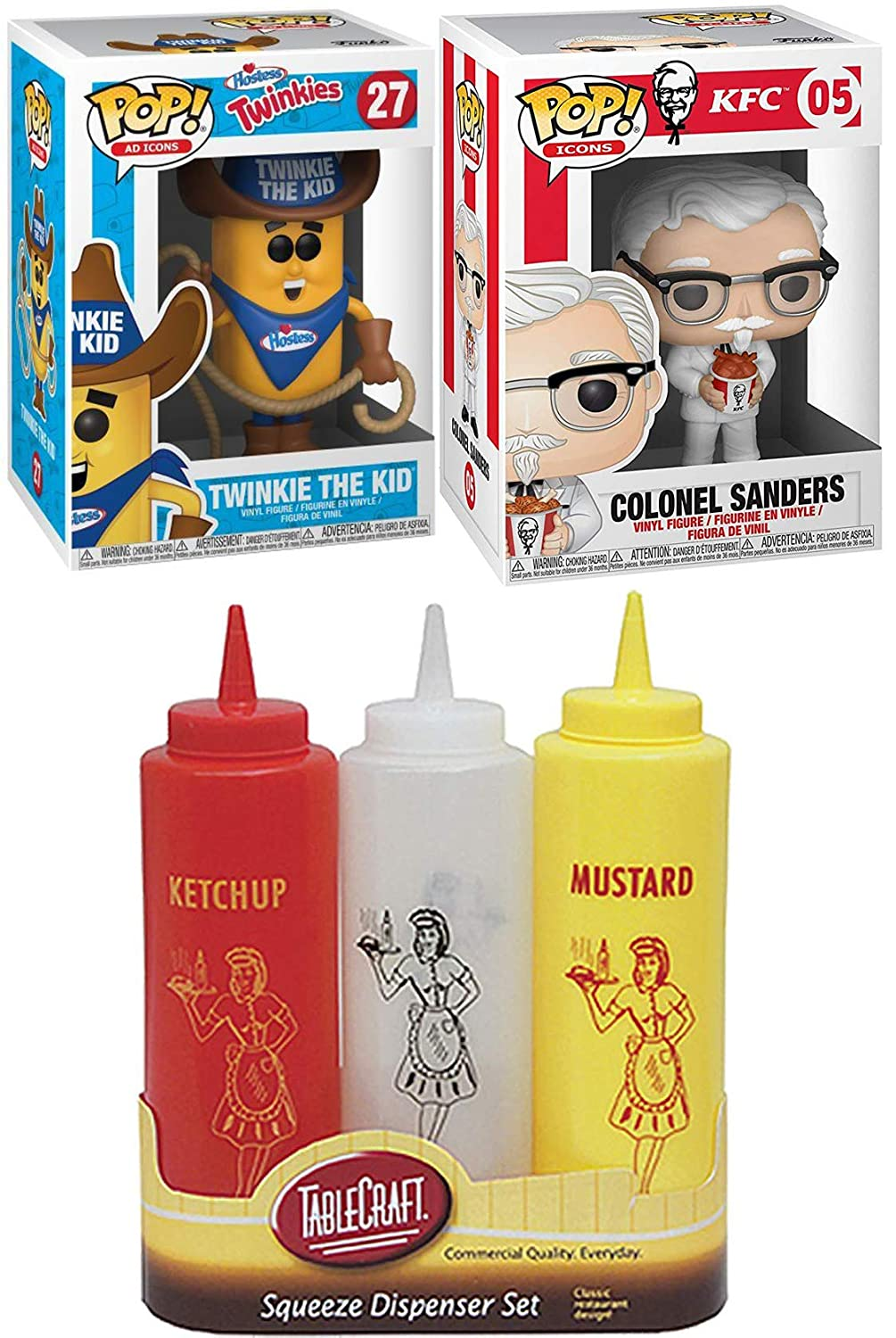 Amazon.com: Funko Snack & Chicken Figura KFC iconos de ...