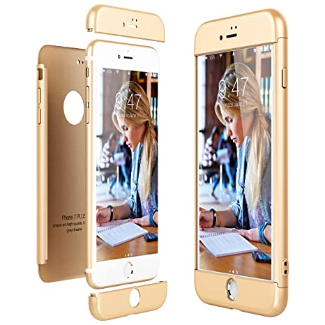 CE-Link Funda para Apple iPhone 7 Plus Rigida 360 Grados Integral, Carcasa iPhone 7 Plus Silicona Snap On Diseño Antigolpes Choque Absorción, iPhone ...