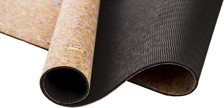 El Yoga Mola Esterilla Eco Corcho Reciclado: Amazon.es: Deportes y ...
