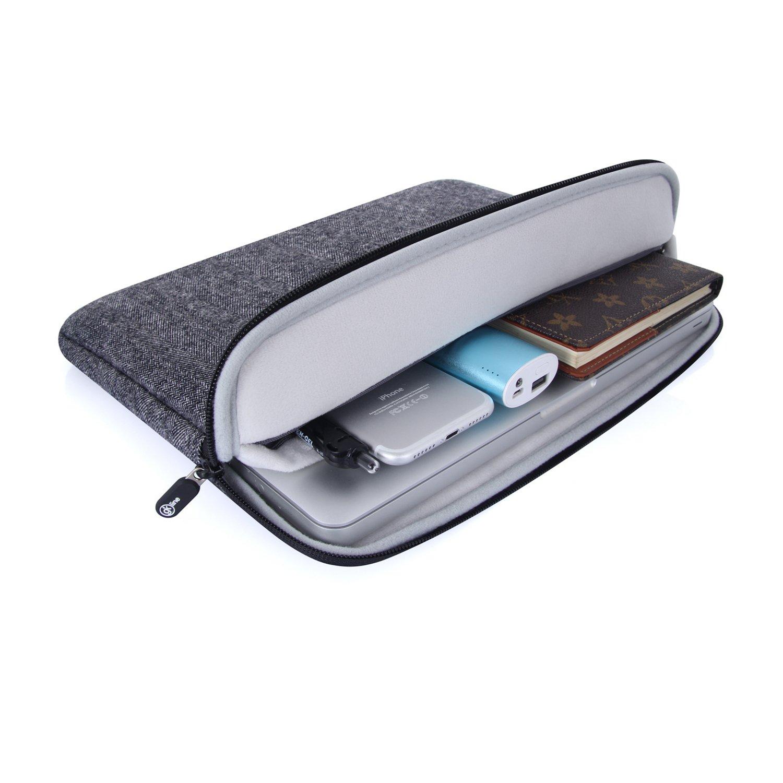 GK Line Pochette universelle Tweed Ordinateur Portable MacBook Netbook Tablet /Étui de protection noir r/ésistant /à leau 15-15.6 Zoll noir