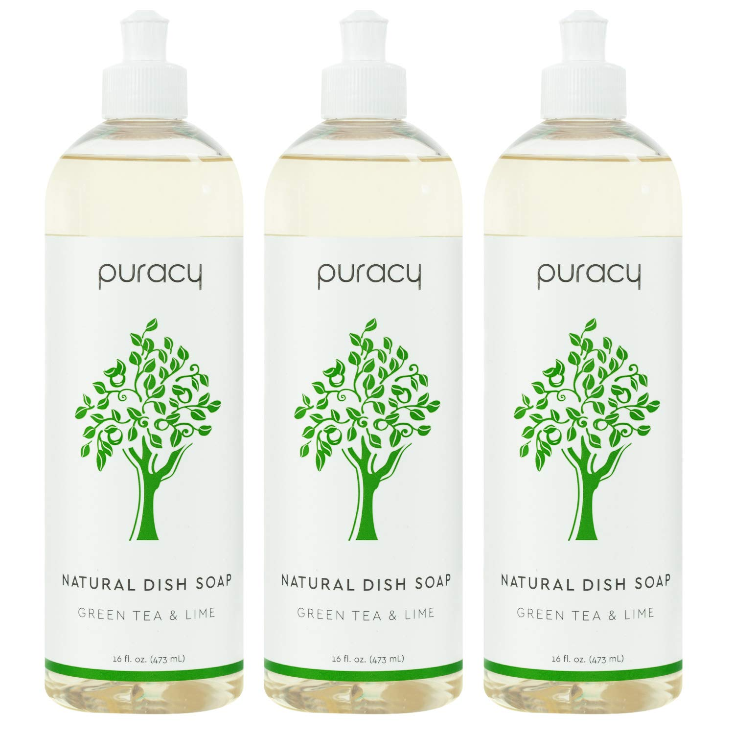 Puracy Natural Dish Soap, Green Tea & Lime, Sulfate-Free, Natural Liquid Detergent, 16 Fl Oz (3-Pack)                Puracy Natural Dish Soap Refill, Green Tea & Lime, 64 Ounce, Hypoallergenic Non-Drying Liquid Detergent                Puracy Natural Dish Soap Refill, Organic Lemongrass, 64 Ounce, Skin-Friendly Liquid Detergent                Better Life Tough on Grease & Gentle on Hands Sulfate Free Dish Soap Lemon Mint, 22 Fl Oz                Puracy Platinum Dishwasher Detergent Pods, 50 Count, Natural Enzyme Powder Tablets, Spot & Residue-Free Dish Packs, Free & Clear