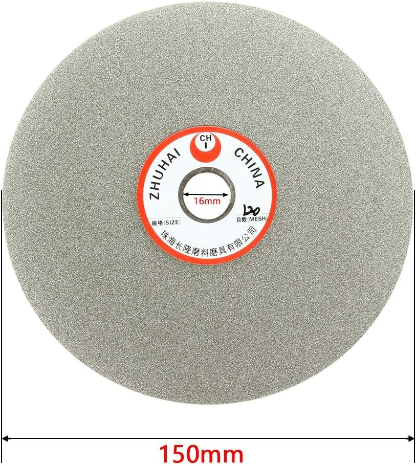 Sourcingmap 6-inch Grit 150 Diamond Coated Flat Lap Wheel Grinding Disc Polishing Tool