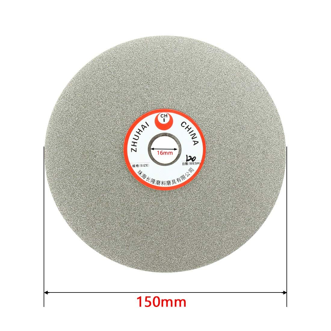 Sourcingmap 6-inch Grit 1000 Diamond Coated Flat Lap Wheel Grinding Disc Polishing Tool