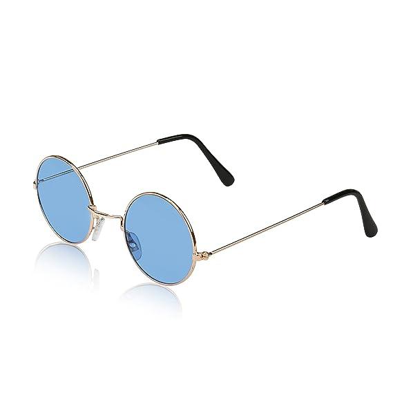 New Vintage Boys Clothing and Costumes Round Sunglasses for Kids [Look Cool] John Lennon Gradient Lens Glasses UV400 $9.99 AT vintagedancer.com