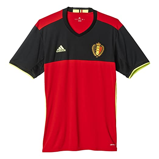 Amazon.com  adidas Men s Belgium Home Replica Soccer Jersey 2016 ... f78f93f4e