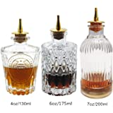 Bitters Bottle - Glass Bitter Bottle, with Stainless Steel Dash Top, Great Bottle For Your Bitters,(set of 3)