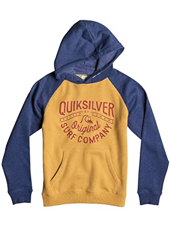 Quiksilver Major Block Screen Print-Sudadera Niños Marrón golden spice Talla:T08: Quiksilver: Amazon.es: Deportes y aire libre