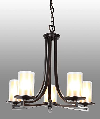 DVI Lighting DVP9025GR-OP Chandelier with Opal Glass Shades, Graphite Finish