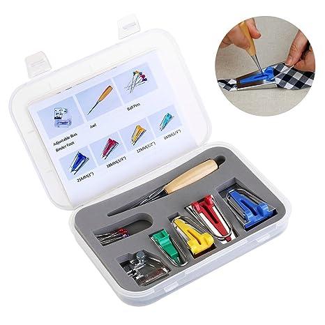 icase4u® kit para fabricar cintas de tiras al bies para máquina de coser punzón +