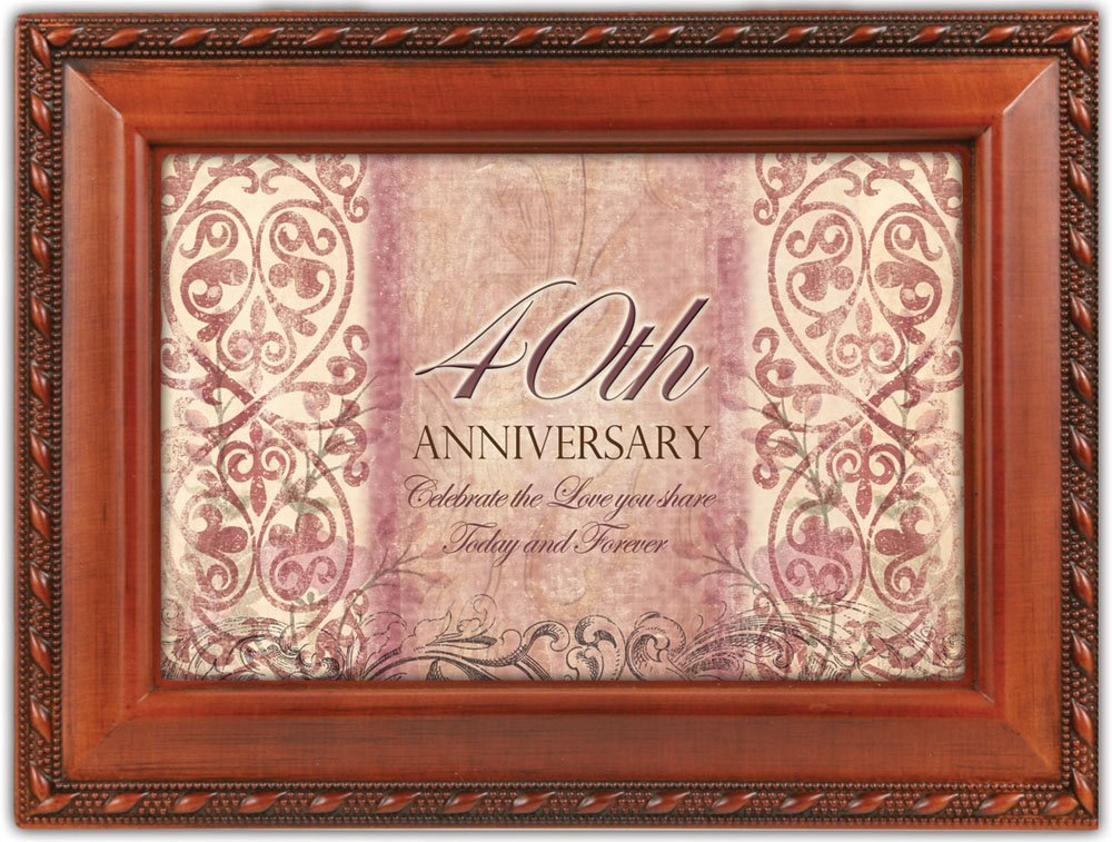爆買い! Cottage Anniversary Garden 40th Anniversary Woodgrain音楽ボックス 40th/ジュエリーボックスPlays Unchained Melody Unchained B00BRX32K4, イワセムラ:42592782 --- arcego.dominiotemporario.com