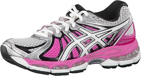 ASICS Gel-Nimbus 15 Zapatilla de Running Señora, Plata/Rosa, 42.5: Amazon.es: Zapatos y complementos