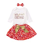 Thankgiving Outfits Set Baby Girls Gobble 'Til You Wobble Long Sleeve Romper + Pleated Tutu Skirts