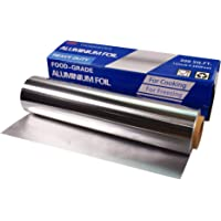 Heavy Duty Aluminum Foil, Food Grade Aluminum Foil Roll 12 Inches X 300 Feet - 300 Square Feet, 0.85mil Thickness