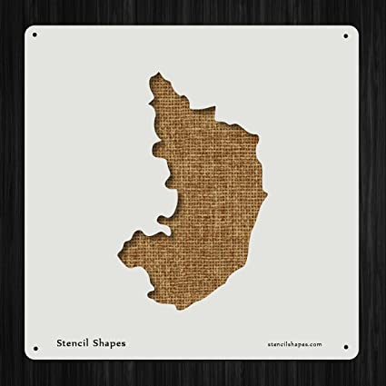 Amazon.com: Karnataka Geography India Location Map Style 11501 DIY on