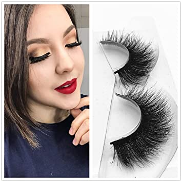 487cf97ecce Amazon.com : Miss Kiss 3D Mink Lashes Reusable Strip, 100% Siberian Mink Fur  False Eyelashes Hand-made Natural Style Cruelty Free 1 Pair Eye Lash  Package : ...