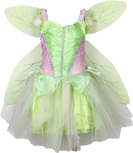 Petitebelle Verde Hada Disfraz alas Set Vestido de Fiesta para ...