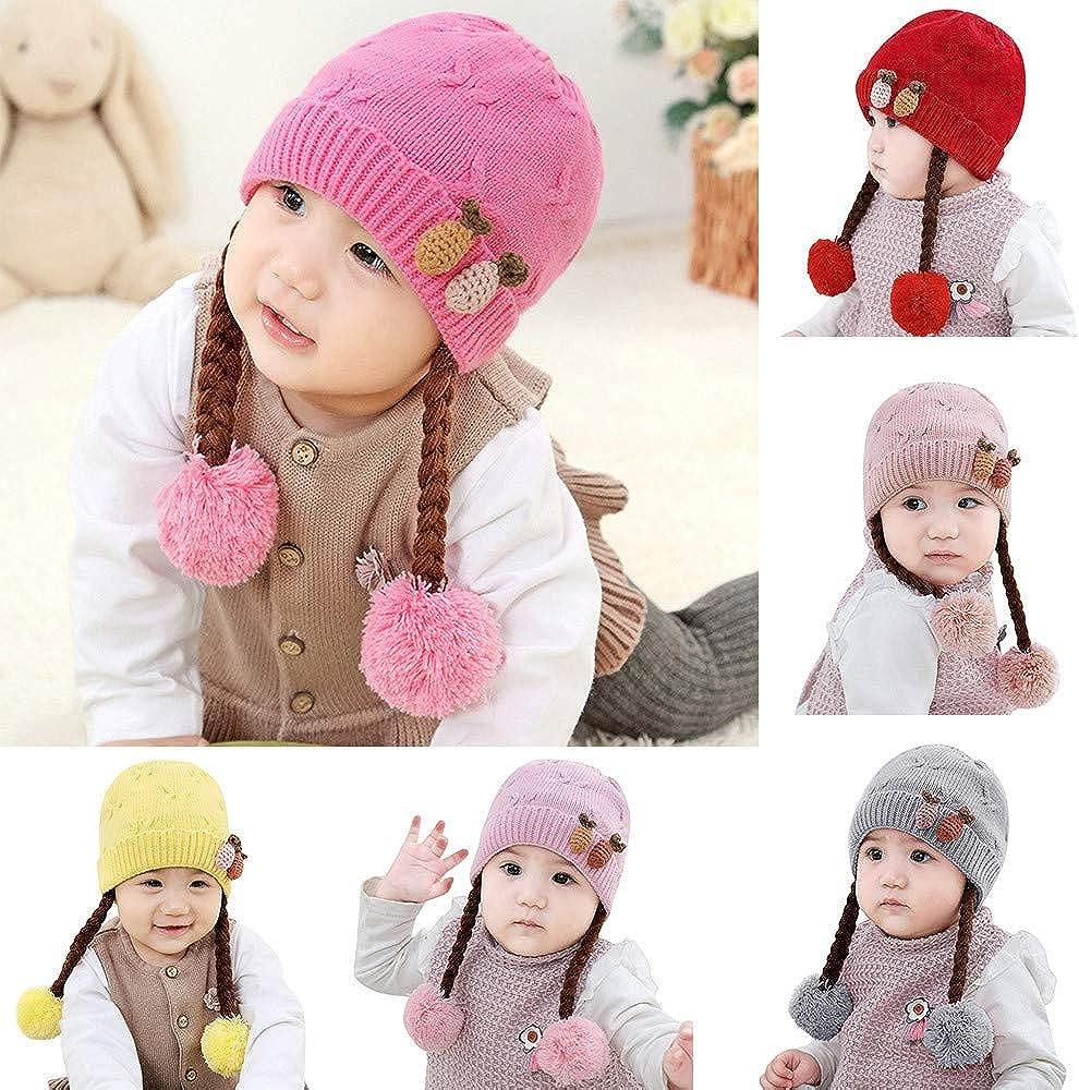 QinMM Sombreros de Invierno para bebé Gorros de Punto Gorro de ...