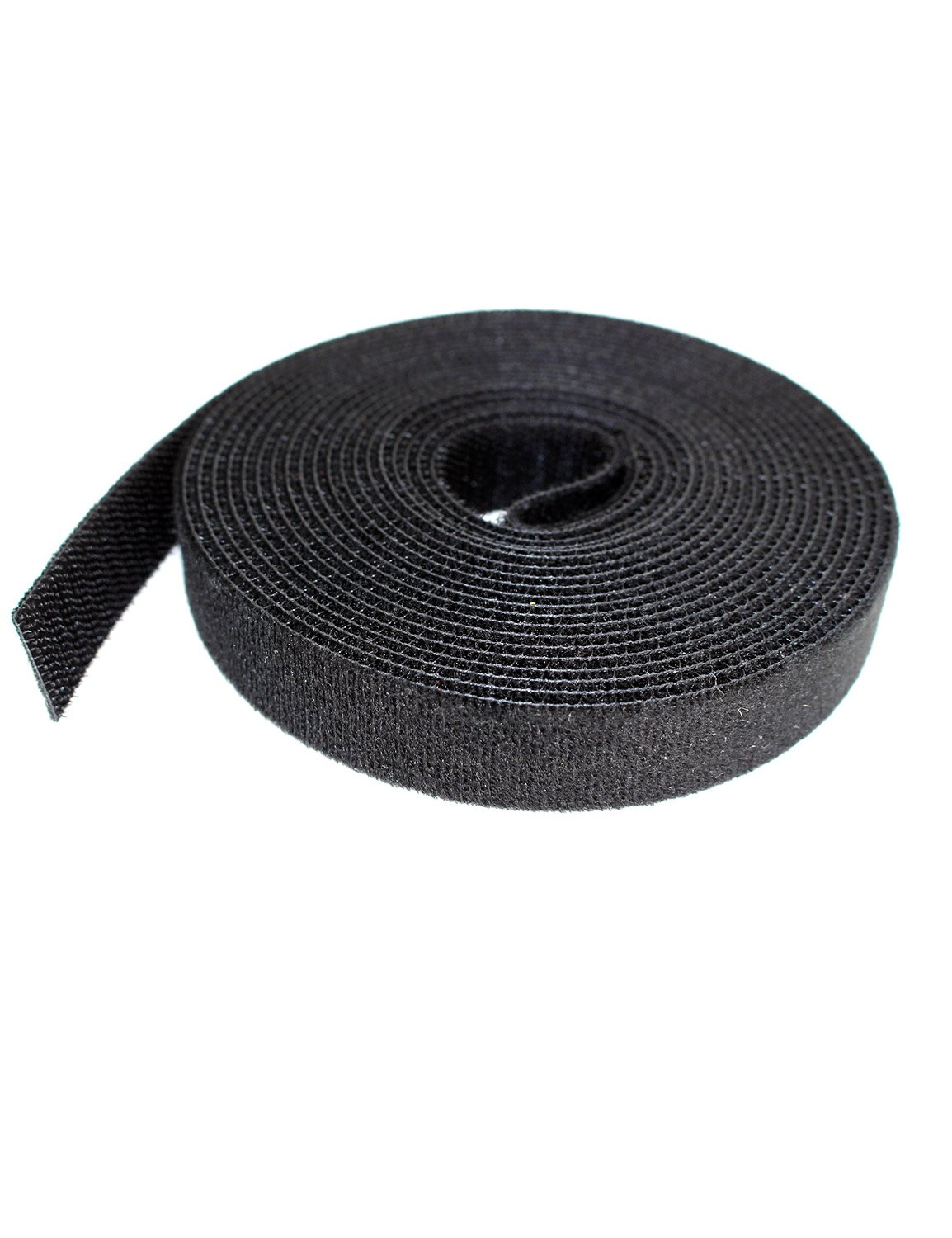 Aiposen Cable Ties 3 4 Inch x 5 Yards Reusable black Cable straps