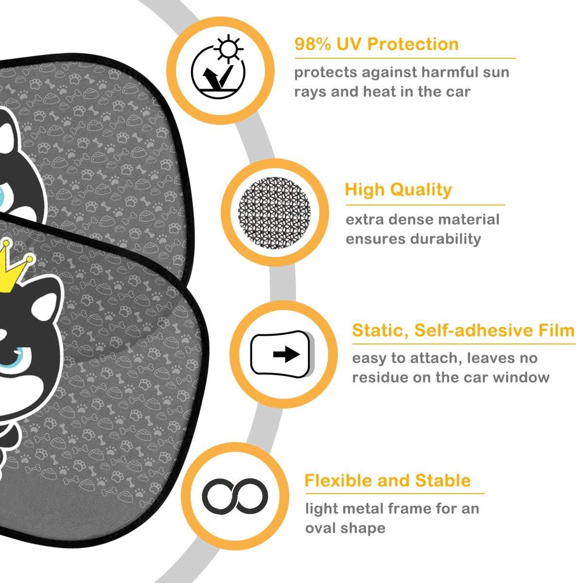 Haustiere Kinder 2 St/ück Selbsthaftende Sonnenblende Auto Kinder mit Hund Motiv Auto Fenster Sonnenschutz f/ür Baby Sonnenblende Auto Baby mit UV Schutz AODOOR Sonnenschutz Auto Baby 51 x 31CM