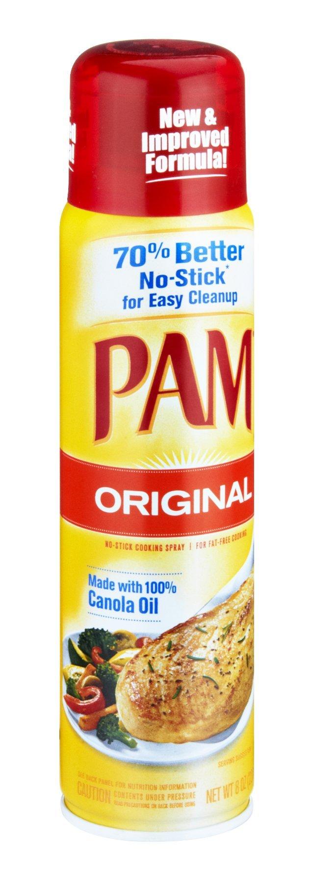Pam Original No-Stick Cooking Spray 8 OZ (Pack of 24)