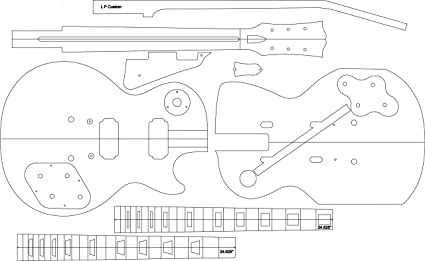 Amazon Com Electric Guitar Routing Template Lp Musical Instruments