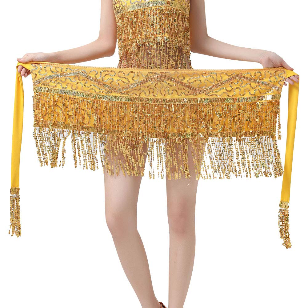 Dance Costumes for Women Girls Ladies, Belly Dance Hip Scarf or Belly Dance Top Bras Chest Pad - Coin/Tassel by MacRoog (Image #2)