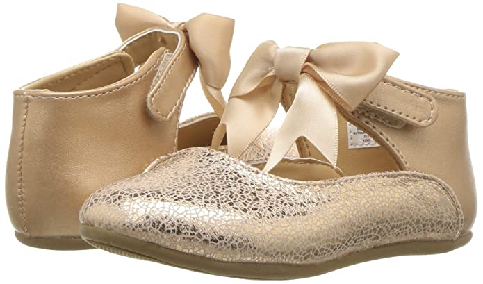 Amazon.com: Baby Deer Baby Girls First Steps Metallic Mary Jane with Bow (Infant/Toddler): Shoes