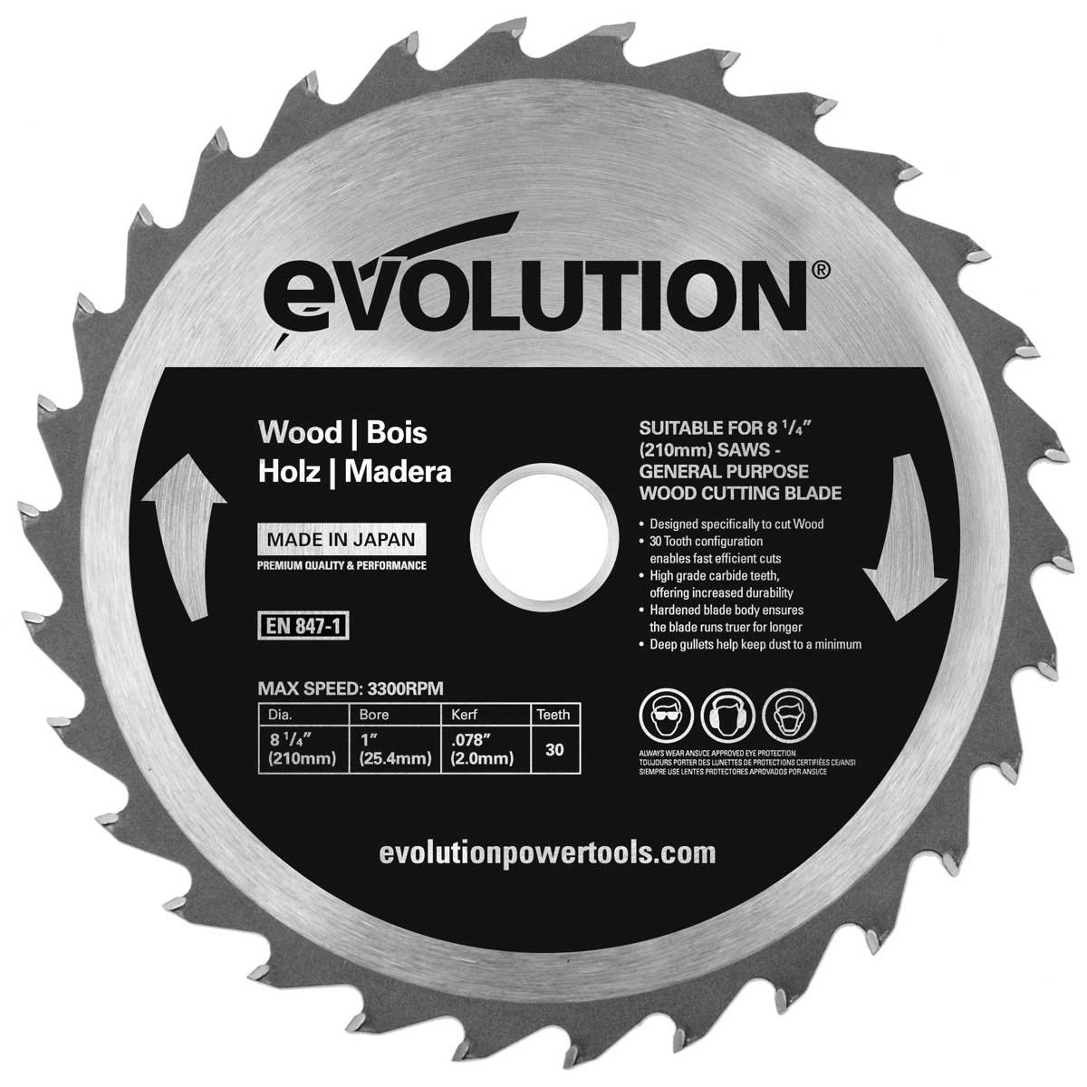 Evolution Power Tools Stainless Steel Carbide-Tipped Blade 355 mm